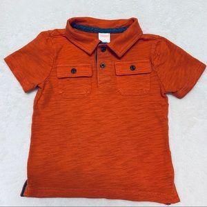 Gymboree 2T Boys Orange Polo Shirt